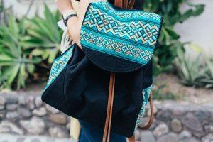 mochila brocado maya